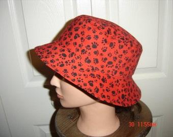 Reversible Paw Prints Bucket Hat
