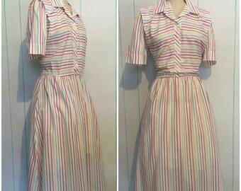 Striped Dress Size 18