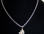 CLOSING SALE Silverplated Shell Necklace