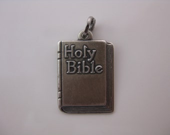 Vintage Beau Holy Bible Lords Prayer Sterling Silver Charm