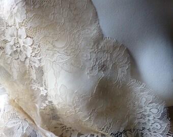 SALE Gold Champagne Eyelash Lace Fabric for Bridal, Veils, Lace Caps, Gowns, Lingerie CH 210