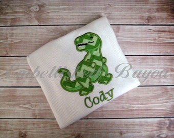 Personalized T-Rex Dinosaur T-shirt for Boys or Girls