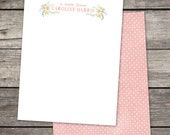 Personalized Floral Notecards for Teacher Gift Coworker Gift or Personal Stationery
