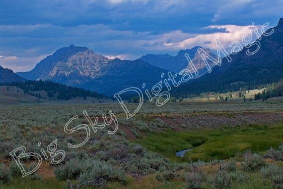 """Soda Butte Valley (8"""" X 10"""")  #H4254A e"""