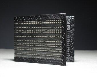 Carbon Fiber RFID Blocking Wallet - Rugged Mens Wallet - Black - Bifold ID