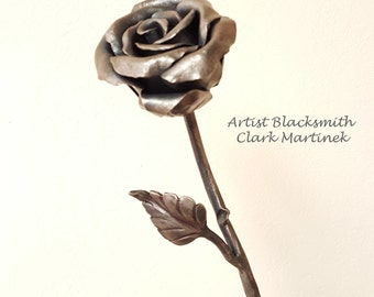 6th anniversary gifts for her, iron rose, unique valentine  gift, metal flower, steel rose, steel flower