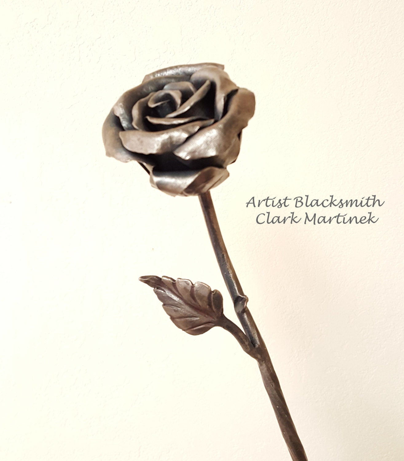 Metal Flower Forever Iron Rose Iron Anniversary Gift 6th
