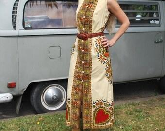 Vintage Tapestry Boho Maxi Dress