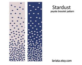 Stardust - Peyote Bracelet Pattern - INSTANT DOWNLOAD