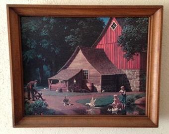 Barnyard Memories Framed Print by Paul Detlefsen