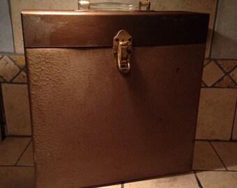 1950s Tin Record File Storage Box