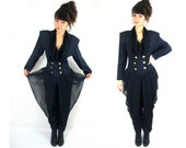 80s power suit / jumpsuit / with chiffon ! / miss jackson / if you're nasty / small