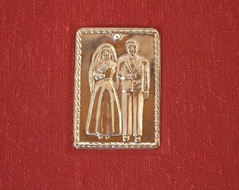 Photo album - Man and Woman wedding milagro - Santa Fe destination wedding - terra cotta 50 pages - 6x8in 15x20.5cm - Ready to ship