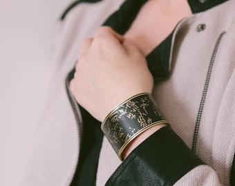 Star Constellations - Zodiac Jewelry - Brass Cuff Bracelet - Atlas Map Jewelry - Stars Galaxy Astrology Space Jewelry - Geeky Gifts