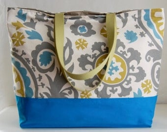 Suzani Summerland XL Extra Large Beach Bag / BIG Tote Bag - Ready to Ship
