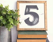 LETTER, Initial, NUMBER SIGN, Laurels and Wreaths, Handpainted, 8x8, Cottage Decor, Black and White, Farmhouse, Faith/Family Series