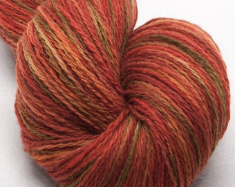 Hand dyed yarn, Scottish Shetland,  hand painted yarn,  pure Shetland wool yarn.  100g colour - Trossach