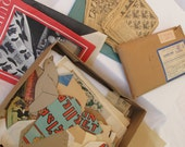 Quilting Patterns Vintage Paper Quilt Newspaper Articles Findings Found Box of Sketches Cut Outs Ideas Destash Sewing Supplies