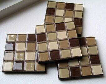Mocha Latte Coasters (Set of 4)