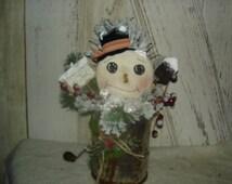 Free Snow Snowman in Vintage Sifter Centerpiece, Snowman, Sifter, Winter, Christmas, Ofg, Faap, Hafair, Dub,