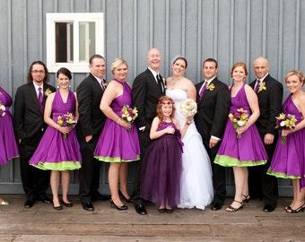 Plum Purple Bridesmaids Dresses - XS-5XL Plus Size Bridesmaids Dresses - Plus Size Dress - Prom Dress - Rockabilly Dress - Vintage Dress