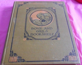 2 DAY SALE Anrique 1912 Book Nature and outdoor life BOYS And Girls Bookshelf Book The University Society New York