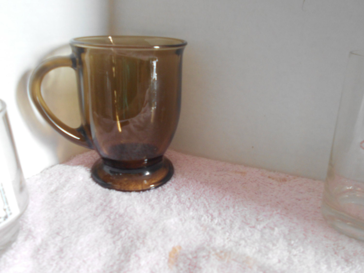 Large Anchor Hocking Brown Glass Coffee Mug