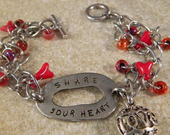 Share Your Heart Metal Bracelet