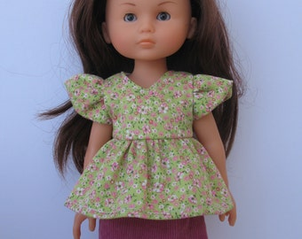 Clothes for Corolle Les Cheries,Paola Reina Doll Top and Skirt