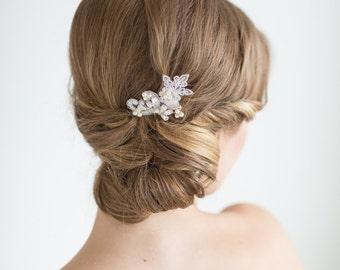 Wedding Hair Pin, Bridal Hair Pin, Swarovski Pearl Wedding Hair Pin, Bridal Lace Hair Pin