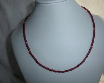 red garnet beaded necklace * fancy necklace * sparkley necklace * gemstone necklace * choker * bridesmaid necklace * bridesmaid gift