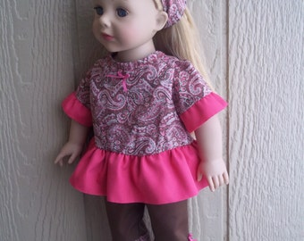 "Pretty in Paisley capris set for any 18"" doll"