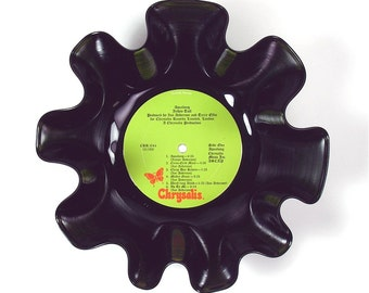 Jethro Tull Vinyl Record Album Bowl Vintage LP 1971 (Aqualung) Lime Green Label w/ Red Butterfly