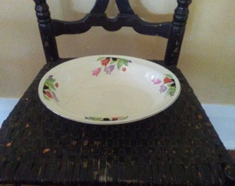 Vintage Hall China Crocus Oval Serving Bowl