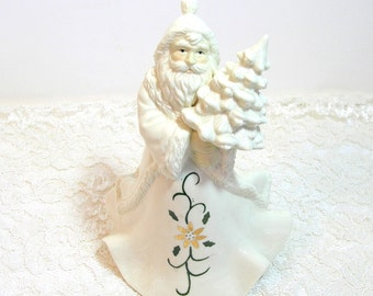 Cream Porcelain Musical Santa Figurine