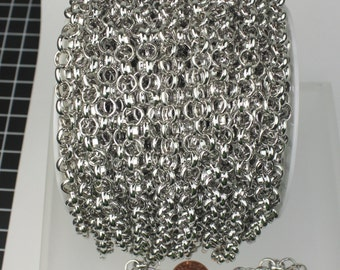 50 ft spool of Rhodium Plated Big Chunky Rolo chain Heavy Bracelet Necklace - 8.0mm(0.315 inch)  - Ship from USA California