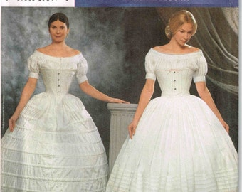 Victorian Crindline Hoopskirt Petticoat Sewing Pattern Simplicity 9764 Reenactment Fashion Historian Martha McCain Size 6 8 10 12 Uncut