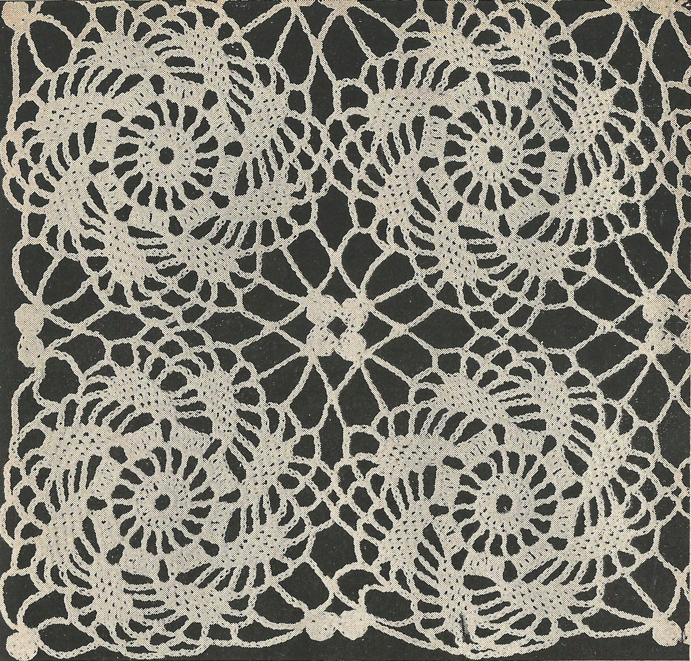Pinwheel motif crochet pattern from a 1955 workbasket for a lovely this is a digital file bankloansurffo Choice Image