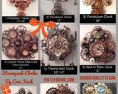 Custom Steampunk Clock - Priced According To Your Order