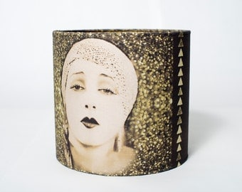Golden Lady Art Deco Lampshade