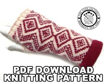 Fingerless Gloves Knitting PATTERN, Tári Tasartir, PDF DOWNLOAD