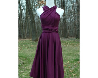 usa Purple  Convertible Dress / infinity dress/ bridesmaids dress -- PURPLE COLORS