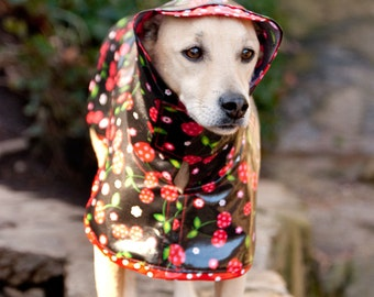 Cherry: Dog Raincoat, Waterproof Dog Coat, Dog Raincoat with Hood, Raincoats for Dogs