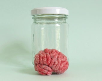 Specimen Jar Brain Anatomical Curio P1