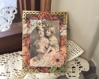 Mother's Day Card - Happy Mother's Day - Victorian Mom Card - Birthday Card Mom
