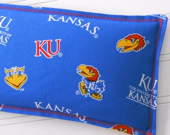 KU - University of Kansas Heating Pad, Microwaveable Flax Seed & Lavender Warm Compress, Cold Compress - Multiple Sizes Available