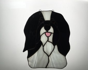Havanese in Stained Glass
