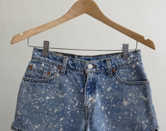 35% OFF SUMMER SALE Splatter Denim Shorts