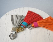 RESERVED for Inga Leather Tassel Yellow Gold With Silver Clasp