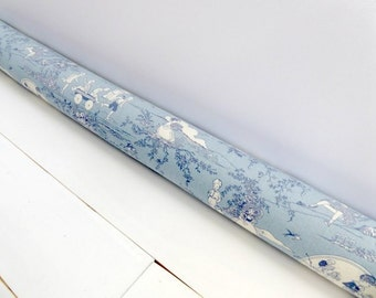 Toile Draft Stopper - Blue Door Snake - Nursery Decor - Kids Room Decor - Child's Stopper.  49.